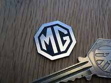 "MG Octagon Logo Self Adhesive Car BADGE 1"" Classic Racing Sports MGB Midget MGA"