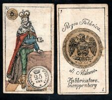 CARTE DA GIOCO REGIA FABBRICA DI MILANO_FABBRICATORE GUMPPENBERG 1846