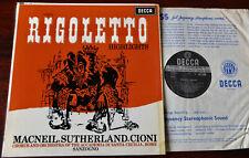 SXL 6008 ED 1 VERDI RIGOLETTO H/LIGHTS LP SUTHERLAND SANZOGNO NM- (1962) ENGLAND