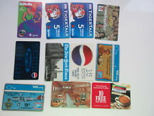 LOT  11 COLLECTIBLE CALLING PHONE CARDS PEPSI FINAL FOUR NEW YORK TIMES GILLETTE