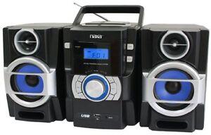 Naxa Npb-429 Mini Hi-fi System - 16 W Rms - Ipod Supported - Black - Cd Player -