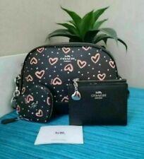 Coach Dome Crossbody Handbag Crayon Hearts L 1981 19952