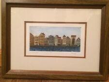 "Original Flo Kemp Aquatint Etching "" Willemsted""  Popular New York Artist"