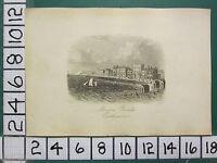 C1860 Piccolo Antico Eastbourne Stampa ~Marino Sfilata~ Bathing Macchine