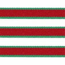 "5 Yds 3/8"" CHRISTMAS RED GREEN LOLLIPOP STRIPE GROSGRAIN RIBBON"