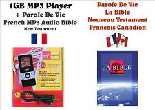 1GB MP3 Player BNIB+French MP3 Audio Bible - Parole De Vie Version NT, FREE P&P