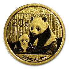 2012 China 1/20 oz Gold Panda BU (Sealed) - SKU #65587