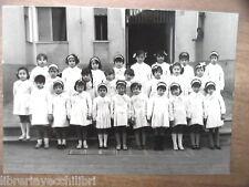 Vecchia foto bn di scolaresca SALERNO scuola elementare bambine alunne classe
