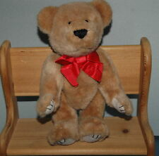 "Vintage Applause Bravo 14"" Tyler Teddy Bear Bown Plush Jointed Arms & Legs Korea"