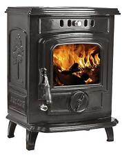 7KW Black Enamel Lilyking 627 Multi Fuel Cast Iron Boiler Stove