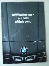 BMW Motor Cars Brochure 1979 3 5 7 6 Series And BMW M1