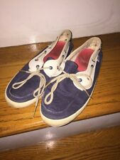 a3c345e2a42 Vans Women s Espadrille Nautical Loafer Mary Jane Canvas Boat Shoes SZ 5.5 !