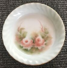 Small Collectable Floral Hand Painted Bowl Plate Dish With Signature