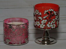 BATH & BODY WORKS THREE WICK SCENTED CANDLE HOLDER NEW DAISIES & SHELLS *CHOOSE*
