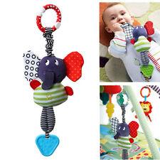 Cute Music Elephant Lathe Hang Baby Soft Dolls Educational Toys Teether