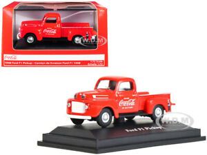 """1948 FORD F1 PICKUP TRUCK """"COCA-COLA"""" RED 1/72 DIECAST MODEL CAR BY MCC 472001"""