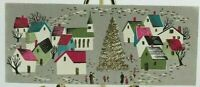 CHRISTMAS CRYSTALS Town Center Tree w/ Gold Detail Used Vintage Card 1956