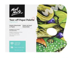 Mont Marte Tear Off Paper Palette Pad 36 Sheets Wax Coated Paper Art Supply AUS