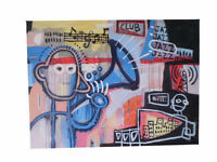 ORIGINAL Street Art Big Urban Painting Canvas Modern Abstract  Basquiat
