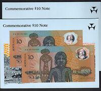 1988 Bi-Centenary - $10 Johnston/Fraser. Last Prefix AA 23 - CONSECUTIVE Pair