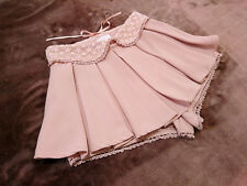 LIZ LISA Pleated Skirt shorts JapanM Collared belt Laceup Hime&Lolita 109fashion