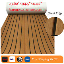 EVA Boat Decking Sheet Easy Installation Marine Floor Carpet Bevel Classic Brown