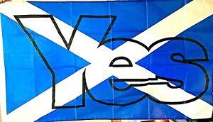 ORIGINAL SCOTTISH *YES* SALTIRE Flag 5ft X 3ft ~ Only £4.95