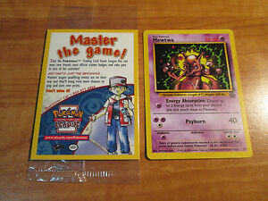 SEALED Pokemon MEWTWO Card BLACK STAR PROMO Set #14 Strikes Back VHS/DVD Release