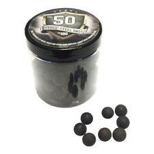 100x Rubber Steel Balls Paintballs palline di gomma Acciaio 50 Calibro HDR T4E