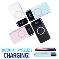 20000mAh Portable LCD Power Bank External 2 USB Battery Charger For Cell Phone