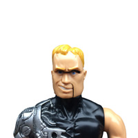 "MAX STEEL PSYCHO 11.5"" GI Joe Cyborg Machine Exploding Head Figure Mattel 1999"