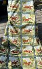 Vintage Waverly Tally Ho Equestrian Horse Hunt Fabric Schumacher 13.5'X4' Panel