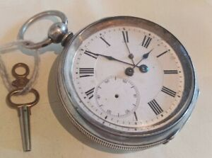 99p No Reserve early ANTIQUE SILVER POCKET WATCH key wind KENDAL & DENT LONDON