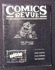 1989 COMICS REVUE Magazine #37 FN+ Dik Browne - Flash Gordon