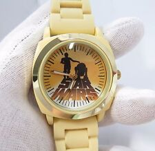"""STAR WARS,1977 Dial,Neoprene 8.5"""" Band BIG MANS CHARACTER WATCH,1783,L@@K!"""