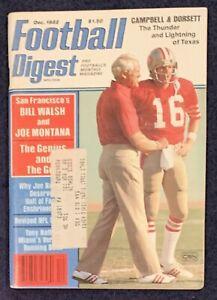 12.1982 JOE MONTANA & BILL WALSH Football Digest SAN FRANCISCO 49ers JOE NAMATH