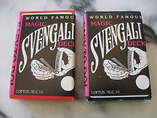 Magic Card Trick NOS Magic Svengali Deck by Loftus TWO (2) Red Card Decks