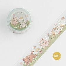Kawaii BGM Puppy Paradise Washi Tape Japan Import UK SELLER