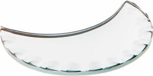 Plymor Moon 3mm Beveled Scalloped Glass Mirror, 3 inch x 3 inch