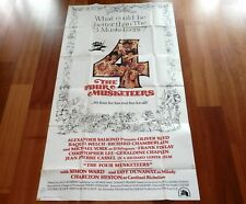 ORIGINAL MOVIE POSTER THE FOUR MUSKETEERS 1975 FOLDED THREE SHEET RAQUEL WELCH