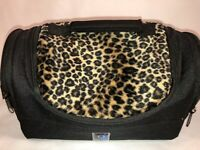 """Insulated Lunch Bag Zero Degrees Animal Print and Black 11 1/2 x 5 1/2"""""""