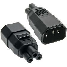 Conector de adaptador de alimentación IEC C14 Enchufe Macho a IEC C5 Hembra Hoja De Trébol