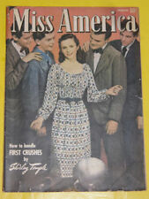 Miss America March 1947 early 10 cent Comic – Shirley Temple! Nice See!