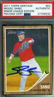 Miguel Sano Psa Dna Coa Autographed 2011 Topps Rookie Authentic Hand Signed
