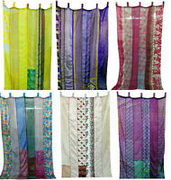 50 Teile Indisch Sari Flickwerk Vorhang Drapierung Fenster Dekor Multi Seide