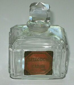 "Vintage Caron Bellodgia Perfume Bottle, Baccarat Numbered, 3 OZ, 3 3/4"" Ht  - #4"