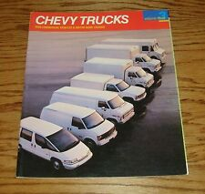 1990 Chevrolet Truck Commercial Vehicle & Motor Home Chassis Sales Brochure 90