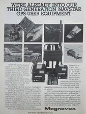 5/1980 PUB MAGNAVOX 3RD GENERATION NAVSTAR GPS AIR FORCE ORIGINAL AD