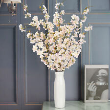 4pcs Artificial Cherry Blossom Flowers Branches Silk Plant Fake Flower Decor