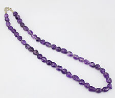TRUELY WORLD CLASS 170.00 CTS NATURAL UNTREATED PURPLE AMETHYST BEADS NECKLACE